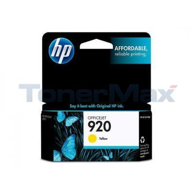 HP NO 920 INK YELLOW